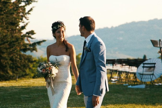 Vintage style wedding film in Volterra -  Clara&Cedric